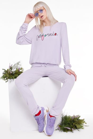 California Baggy Beach Jumper, Sweatshirt, Sweater, Iris, Wildfox