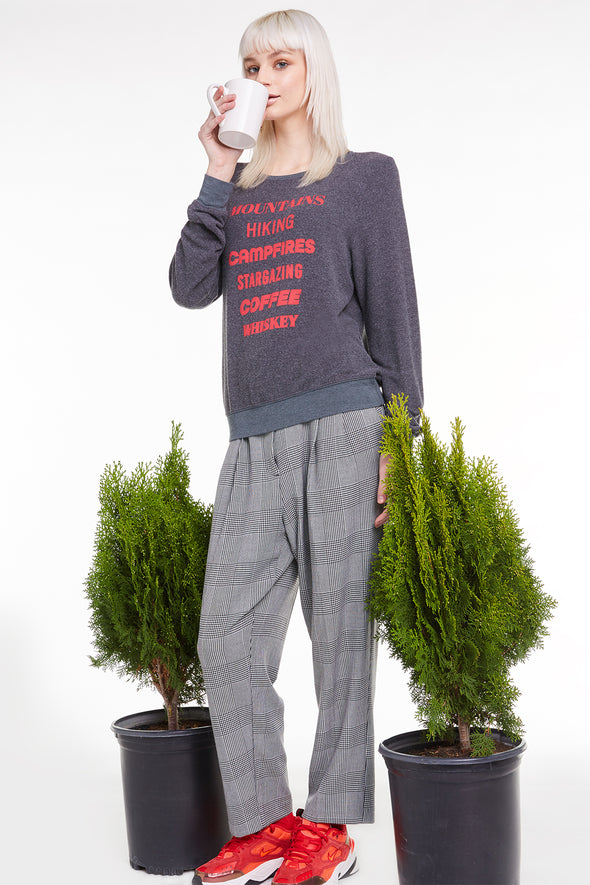 Camp List Baggy Beach Jumper, Sweatshirt, Sweater, Night, Wildfox