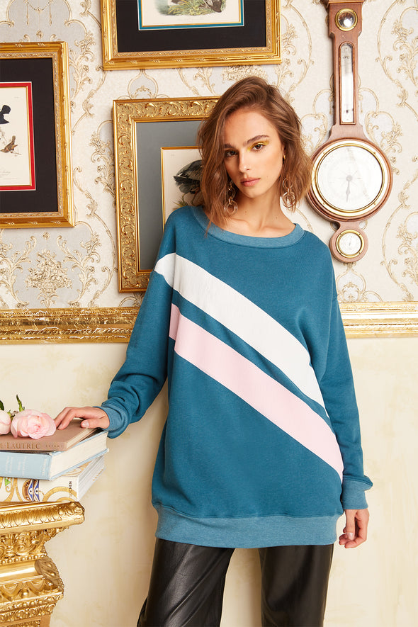 Dual Stripes Roadtrip Sweatshirt | Jewel
