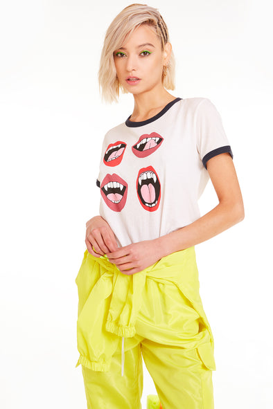 Fangs Johnny Ringer Tee, Tee, Tshirt, Vanilla Night, Wildfox