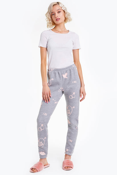 For Like Ever Knox Pants, Pants, Sweats, Bottoms, Heather, Wildfox