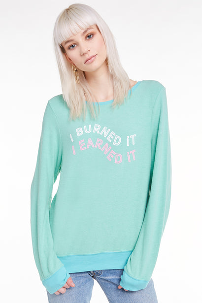 I Earned It Baggy Beach Jumper, Sweatshirt, Sweater, Orion, Wildfox