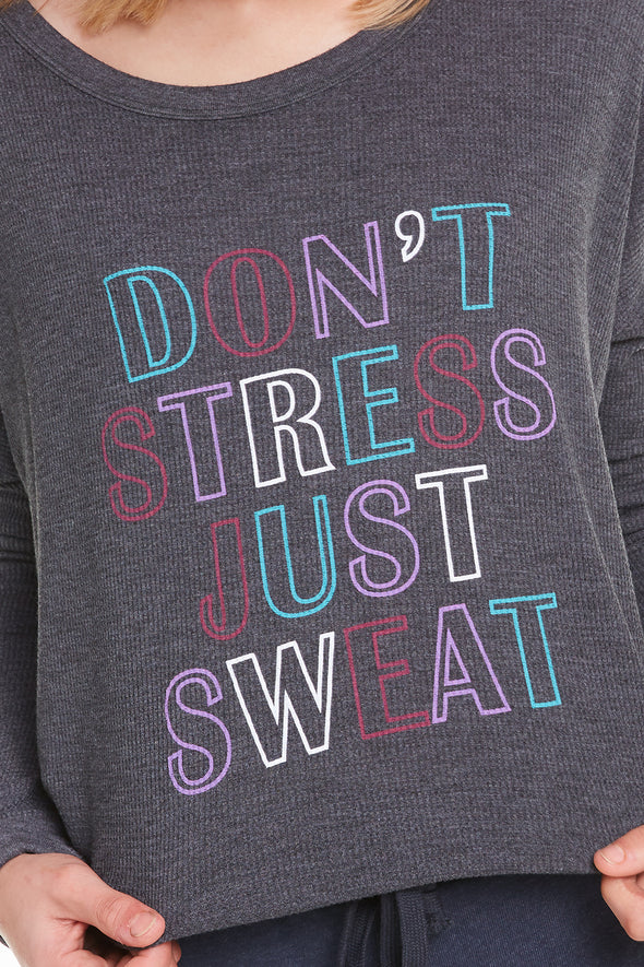 Just Sweat Perry Thermal, Thermal, Long Sleeve, Top, Night, Wildfox
