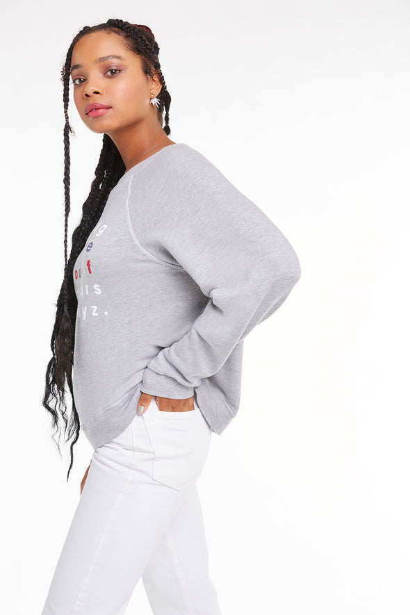 Love Yourself Sommers Sweater, Sweater, Sweatshirt, Heather, Wildfox