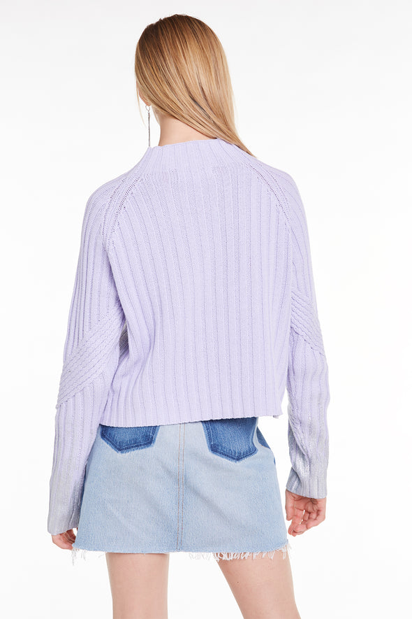 Luster Brush Summit Sweater, Sweater, Sweatshirt, Iris, Wildfox