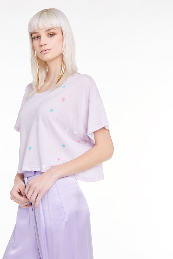 Multi Starlet Valley Tee, Tee, Tshirt, Top, Iris, Wildfox