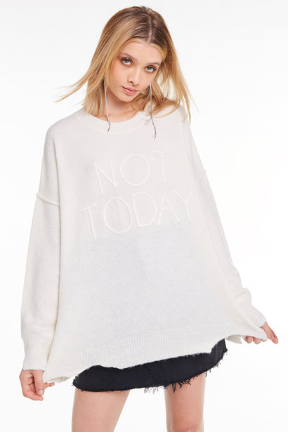 Not Today Omen Sweater, Sweater, Sweatshirt, Vintage Lace, Wildfox