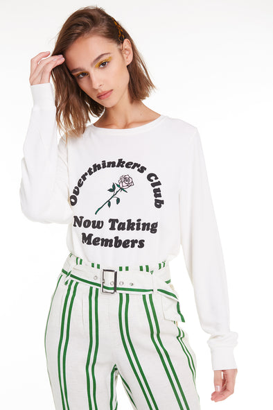 Overthinkers Club Baggy Beach Jumper, Sweatshirt, Antique, Wildfox