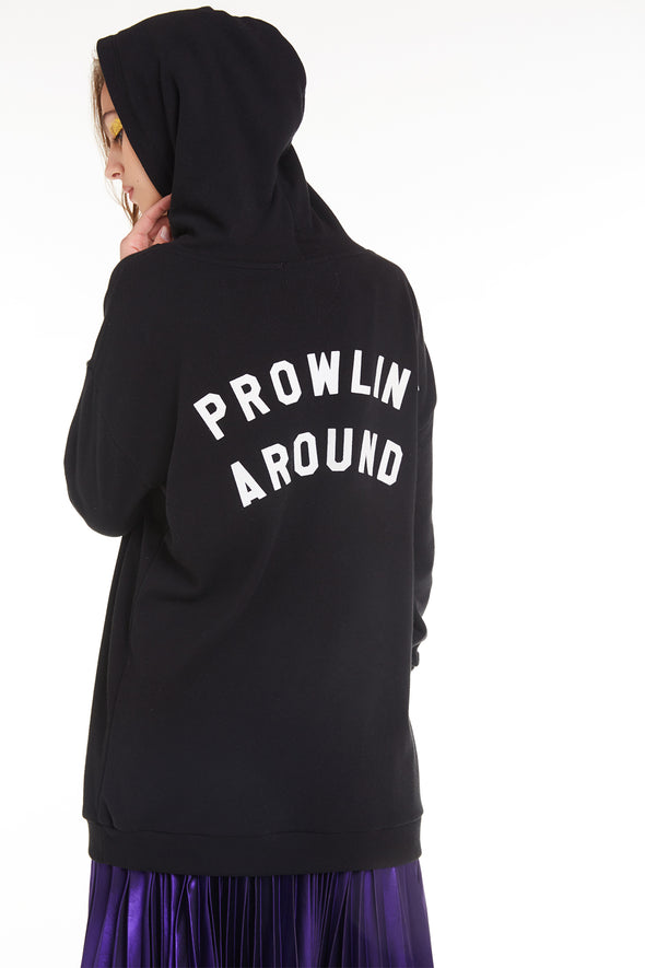 Prowlin' Around Rebel Hoodie | Clean Black