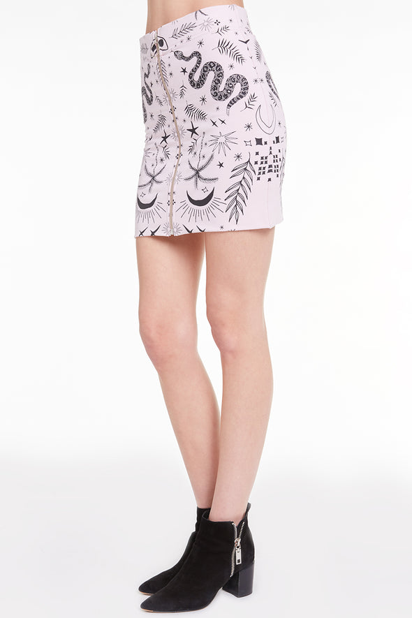 Radiant Bandana Skirt, Skirt, Bottom, Rose, Wildfox
