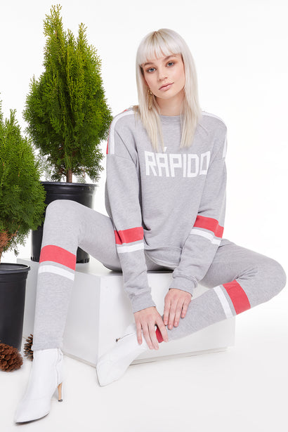 Rapido Roadtrip Sweatshirt, Sweatshirt, Sweater, Heather, Wildfox
