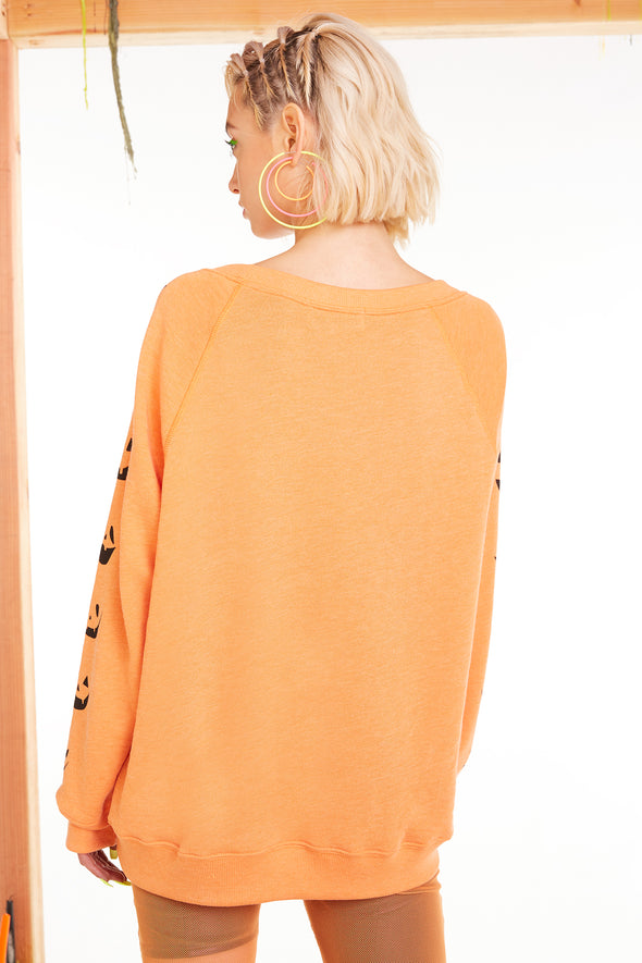 Smashed Sommers Sweatshirt, Sweatshirt, Sweater, Orange Crush, Wildfox
