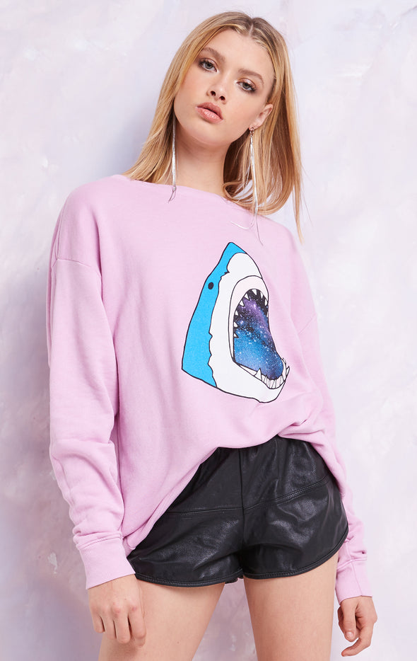 The Space Shark Roadtrip Sweater, Sweater, Crepe, Wildfox