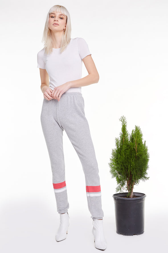 Sporty Warmup Knox Pants, Pants, Bottoms, Sweats, Heather, Wildfox