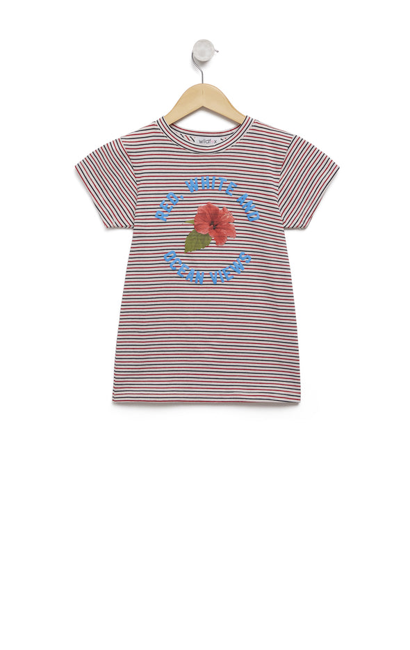 Kids Ocean Views Tourist Crew | Striped