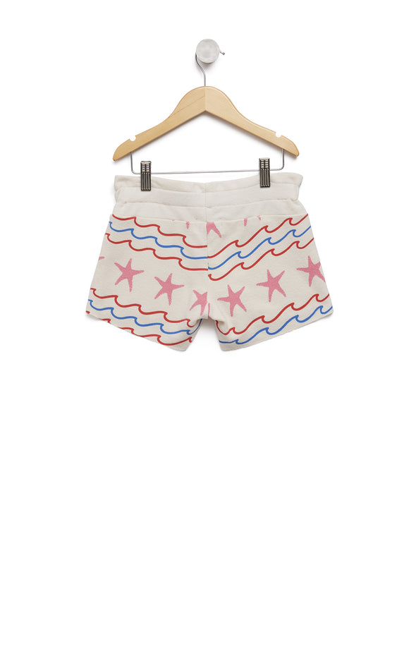Kids Sea Stripes Cutie Shorts | Vintage Lace