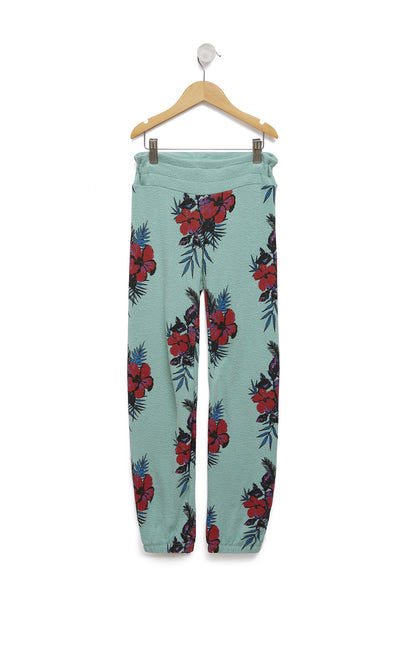 Kids Hibiscus Dreams Malibu Sweats | Glacier