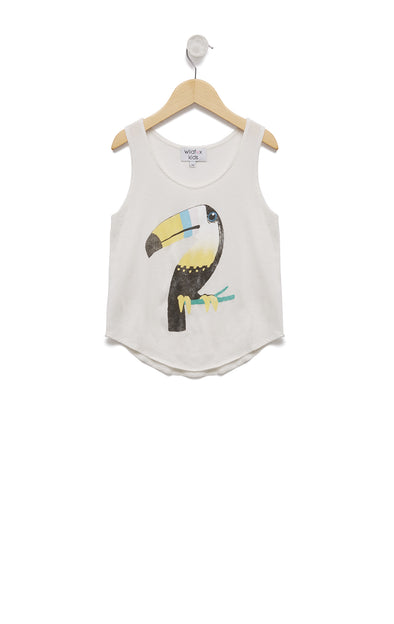 Kids Bird of Paradise Hiker Tank | Vanilla