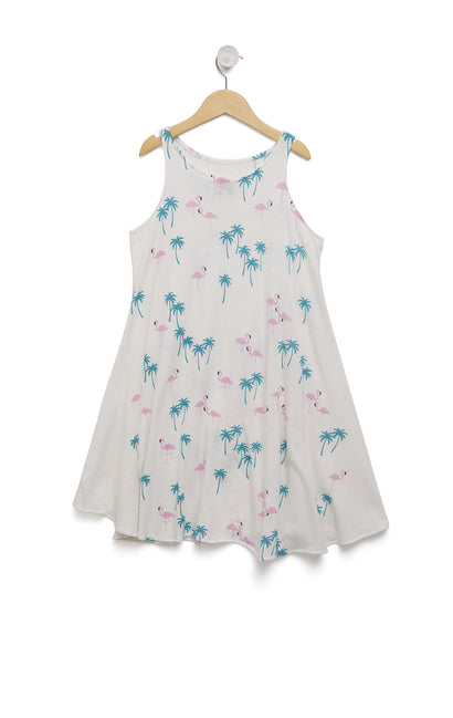 Kids Everglades Cassidy Tank Dress | Vanilla
