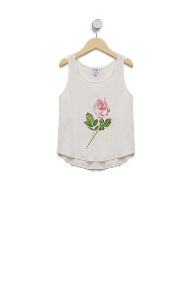 Kids Rose Stem Hiker Tank | Vanilla