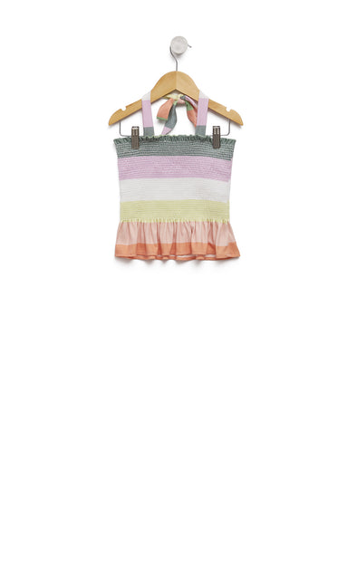 Kids Sorbet Stripes Emi Top | Multi Colored