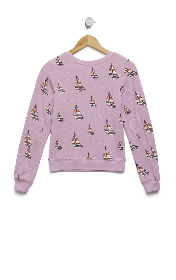 Sail On Baggy Beach Jumper | Orchid