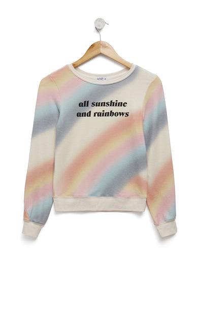 Sunshine & Rainbows Baggy Beach Jumper | Multi