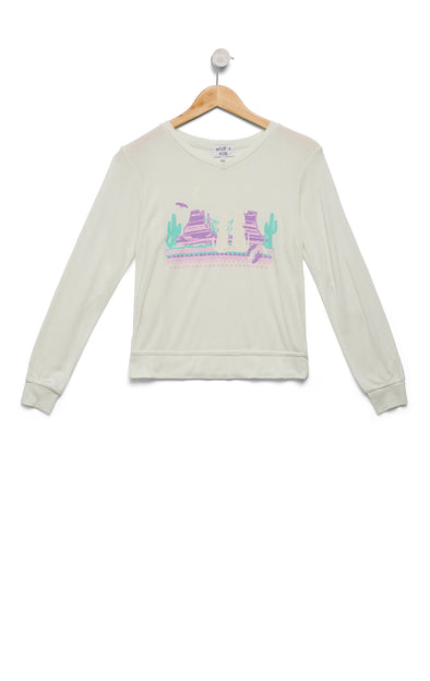 Kids Desert Glow Baggy Beach Jumper | Juniper Mint