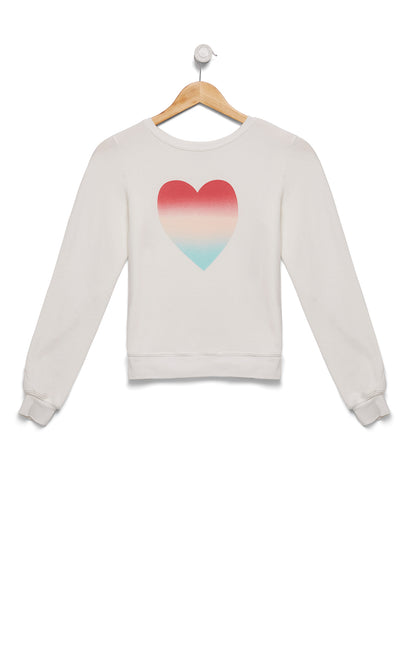 Gleaming Heart Baggy Beach Jumper | Vanilla