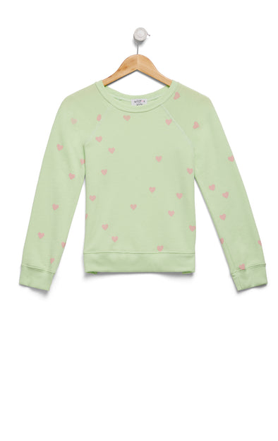 Scattered Hearts Sommers Sweater | Soft Lime