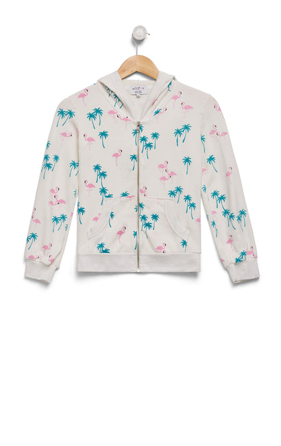 Kids Everglades Malibu Zip Up | Vanilla