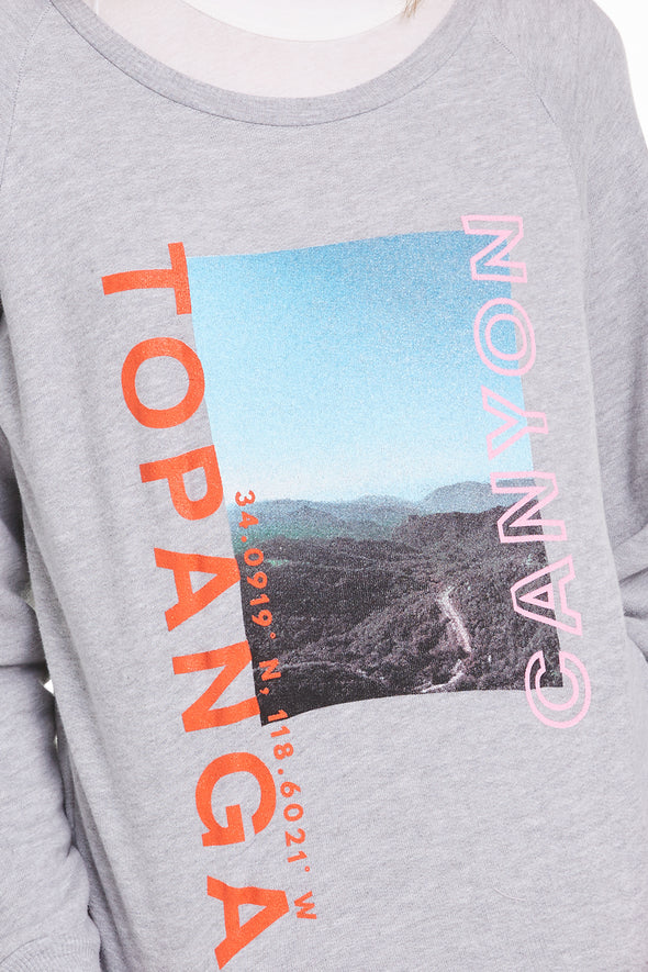 Topanga Canyon Fiona Crew, Crew neck, Sweatshirt, Sweater, Heather, Wildfox