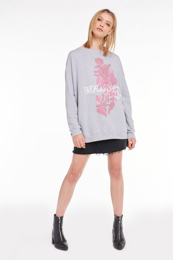 Wanderlust Roadtrip Sweatshirt, Sweatshirt, Sweater, Heather, Wildfox