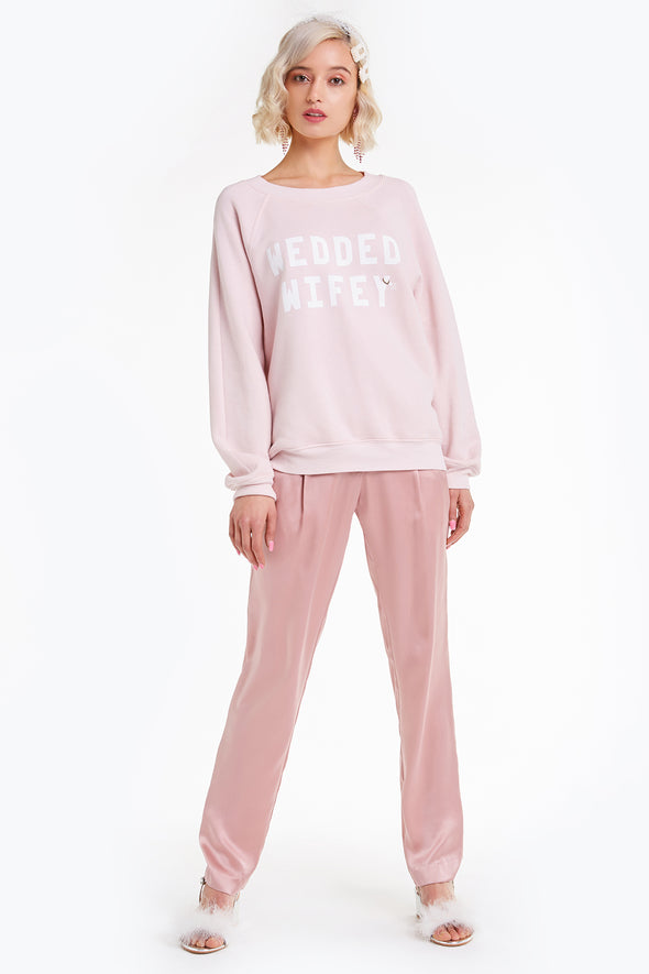 Wedded Wifey Sommers Sweatshirt, Sweater, Sweatshirt, Rose, Wildfox