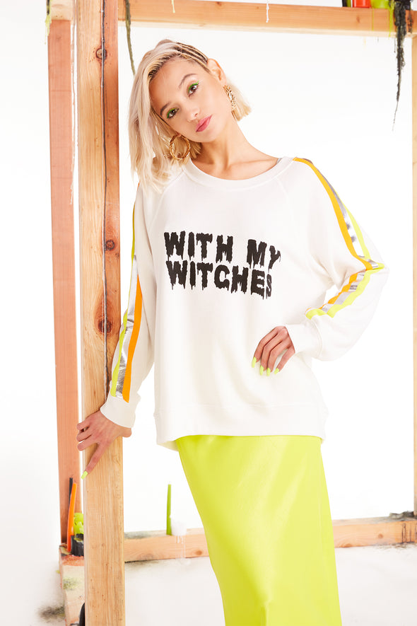 With My Witches Sommers Sweatshirt, Sweatshirt, Sweater, Vanilla, Wildfox