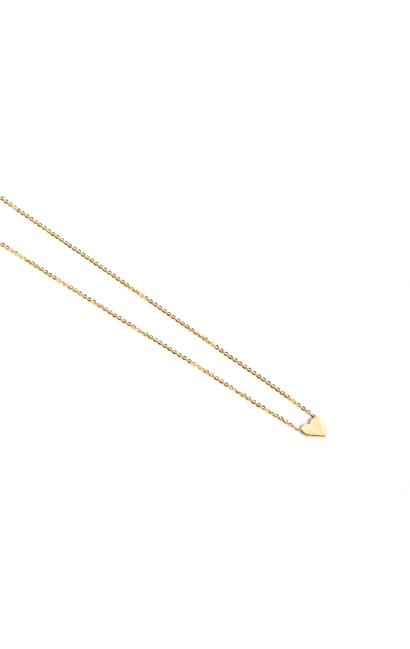 Leenabell 14K Yellow Mini Heart Necklace | Yellow Gold