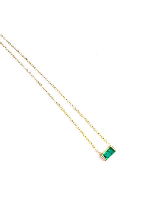 Leenabell 14K Yellow Sideways Emerald Baguette | Yellow Gold