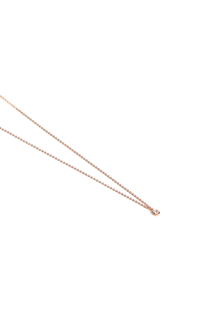 Leenabell 14K Rose Dainty Diamond Necklace | RG