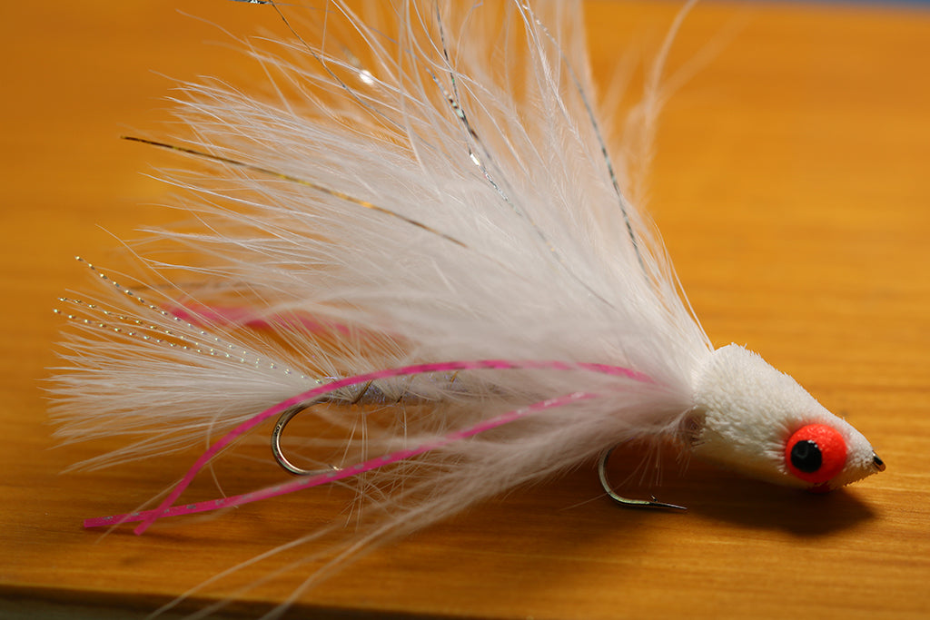 Articulated Bank Yanker, White w/ Pink Rubber