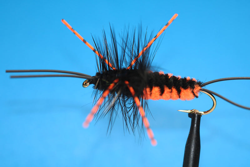 Bitch Creek Nymph Flame, Improved, Orange W/ Orange Variegated Rubber