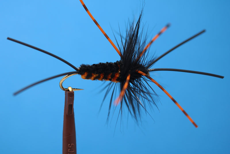 Bitch Creek Nymph, Improved, Burnt Orange W/ Variegated rubber