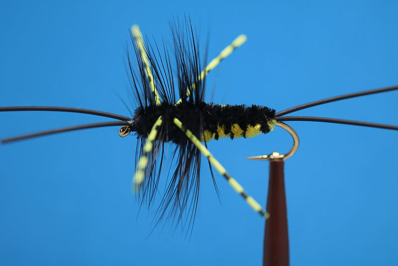 Bitch Creek Nymph Yellow, Improved, W / Variegated Rubber