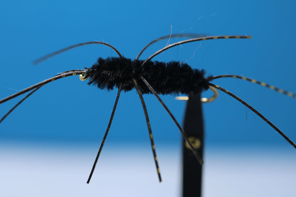 Black Turks With Black and Gold Rubber Hackle