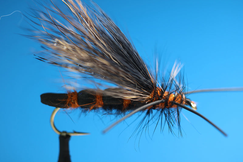 M.T.F. Foam Body Salmon Fly Rubber Leg