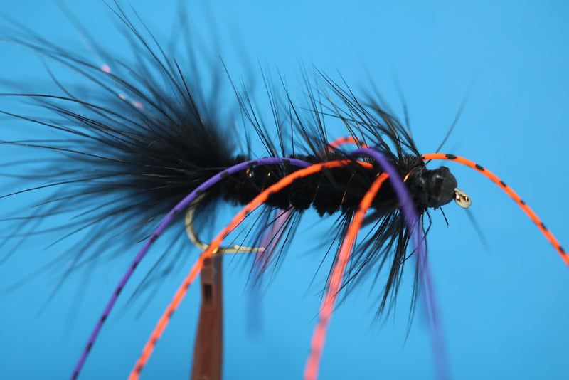Black Woolly Bugger Legged with Tungsten Bead
