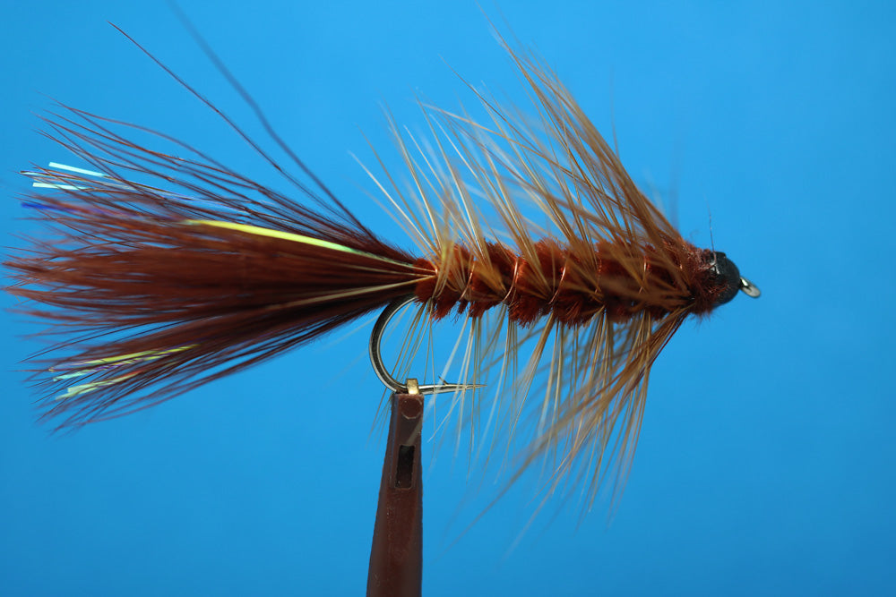 Brown Woolly Bugger Tungsten Bead