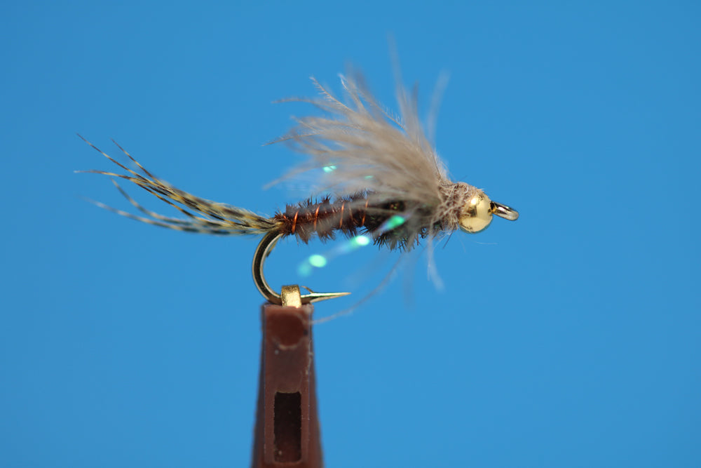 Bead Head PMD Nymph with Peacock and CDC