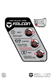 Falcon Series 3.3 Fast Adjust Piggyback Shocks for JKU 4-Door