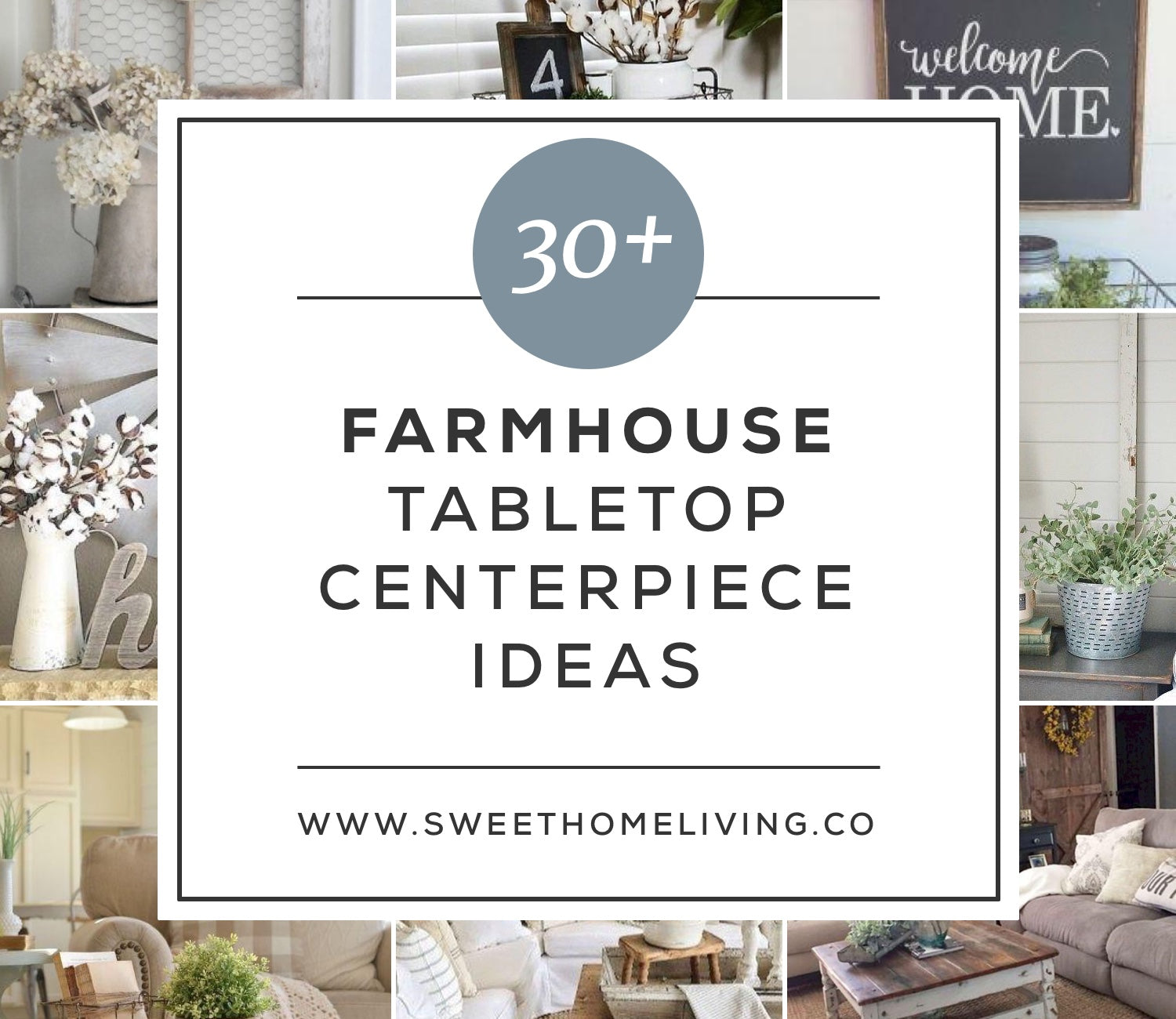 30+ Farmhouse Tabletop Arrangement Centerpieces