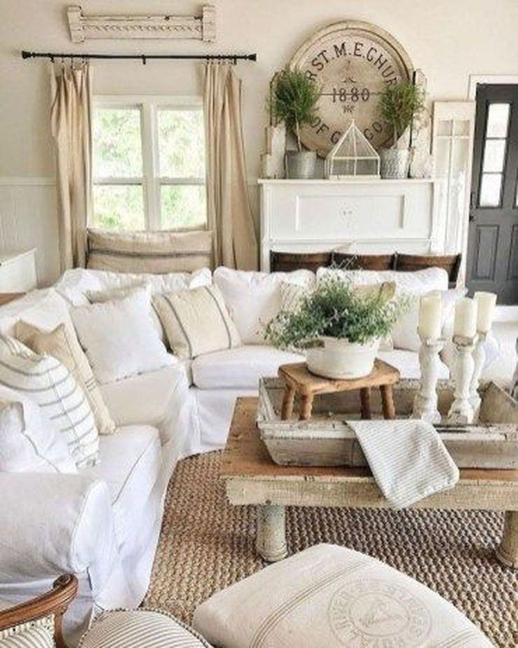 Large Shabby Chic Coffee Table Centerpiece